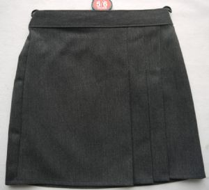 Grey 3 Pleat Skirt